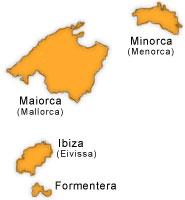 Cartina Spagna Baleari.Spagna Le Isole Baleari Ibiza Maiorca Minorca Formentera