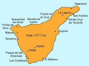 Tenerife Cartina Spagna.Spagna E Isole Canarie Tenerife